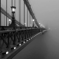 The Chain bridge covered by fog........... by Remu #Budapest