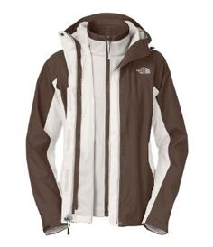The North Face Evolve Triclimate Jacket Vaporous Grey/Brown Womens Sz S by The North Face. $200.00. Zip-in compatible. Triclimate® insulation: 100 g micro-fleece. TBD. Waterproof, breathable, seam sealed. Attached, fully adjustable hood. Fabric: body: 75D 110 g/m2 (3.19 oz/yd2) 100%Ã'polyester HyVent® 2L. Key Features of The North Face Evolve Triclimate Jacket:Fabric: body: 75D 110 g/m2 (3.19 oz/yd2) 100%Ã'polyester HyVent® 2LTriclimate® insulation: 100 g mi...