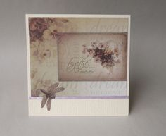 Card 1 of our Card of the Month for June features paper from the Couture Creations Hearts Ease range and some of our lovely ribbon.