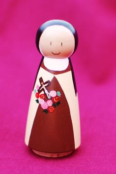 St Therese Wooden Peg People Doll by WNYCrafts on Etsy, $16.95