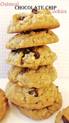 Oatmeal Chocolate Chip Cookies -used real butter but did not have coconut oil so used another stick of butter instead.
