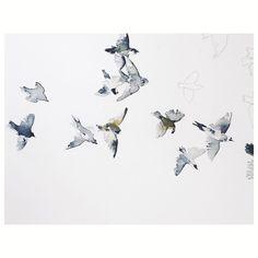 b i r d s • longing for spring... #birds #inprogress #birdsofinstagram #mydeerartshop #ss16preview