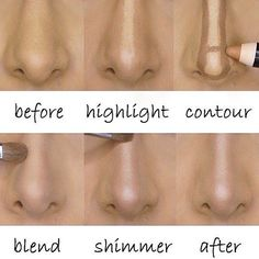 The quick and easy way to a perfectly slim nose! All you need is to highlight and contour! Check out the Contour Sculpting Trio at: BeYouniqueByWynn.com