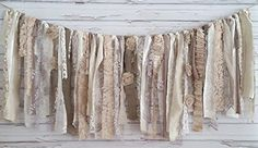 Shabby Chic Neutral Garland Rag Tie Banner: ~ Photo Shoot ~ Vintage ~ Wedding Décor ~ Birthday ~ Nursery ~ Modern Baby ~ Bridal Shower ~ Rag Quilts ~ Shabby Chic ~ Modern ~ Garland ~ Congratulations ~ Bunting ~ Decorative ~ 1st Birthday ~ Surprise ~ Wall Decor ~ Highchair Banner ~ Gender Reveal Parties ~ Event Decor ~ Swag ~ Decorations ~ Rag Tie ~ Party Decor ~ Burlap ~ Rustic Chic ~ Photo Props ~ Photo Backdrops ~ Banner ~ Distressed ~ Boho ~ Victorian ~ Wall Decor ~ Wall Hanging…