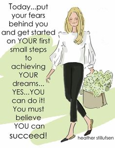 You can succeed....