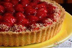 Receta de Torta de morango tradicional - Comida e Receitas - Quitutes - Cheesecakes, Keto Egg Salad, Tumblr Food, Sweet Pie, Strawberries And Cream, Cake Recipes, Bakery, Strudel, Good Food