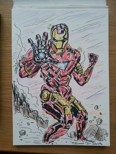Iron Man Fanart...boy i love this guy... have to get better drawing him  #FanArt #Pencils #Ironman #Marvel