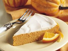 Impossibly Easy Creamy Topped Pumpkin Cheesecake.... I have made this many times and it is delicious.  Great for people who do not like the crust!