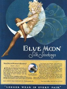 Vintage advert for silk stockings 1920s