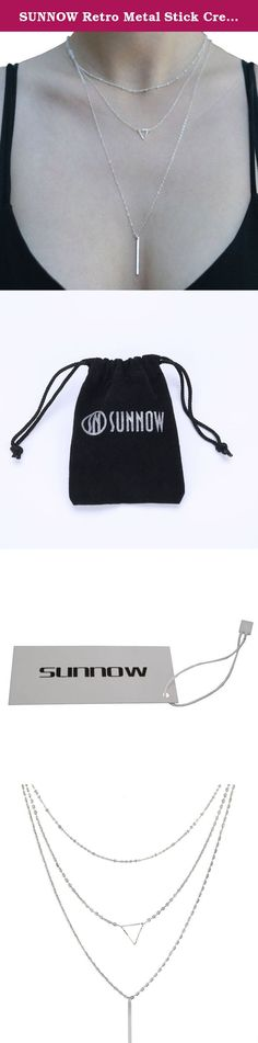 """SUNNOW Retro Metal Stick Creative Multilayer Bar Pendant Alloy Short Necklace. Brand: SUNNOW product only sold by SUNNOW store on Amazon. Package includes: 1 x Necklace Material: Alloy Color:Gold,Silver Gender:Women,Girl Size: 40 x 50 x 65cm/15.7 x 19.68 x 25.59"""" Style:Fashion,Europe and America style,Bohemian Detail: Multilayer Necklace SUNNOW Products line: dress, T-shirt, jacket, jeans and other clothing, jewelry, bag, watch,phone case,etc. Commitment: high-quality, fashion-design…"""
