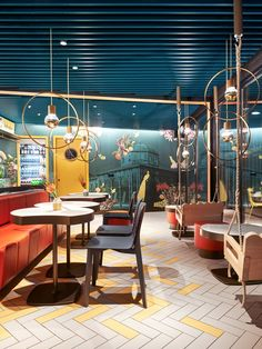 Bar Interior Design, Cafe Interior, Restaurants, Indoor Swing, Home Design Living Room, Hotel Interiors, Design Studio, Hospitality Design, Commercial Interiors