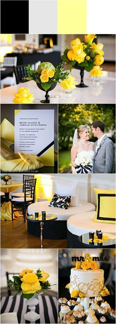 yellow wedding idea; photo: Riverbend Studio
