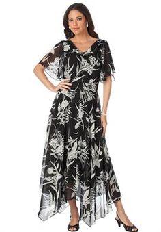Lace and Chiffon Jacket Dress   Plus Size Dresses and Skirts ...
