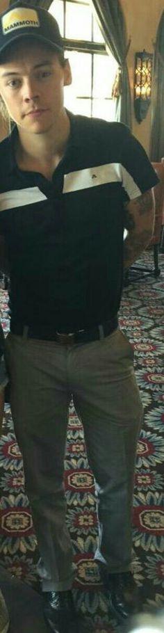 Harry in dress pants...omg...THE FEELS