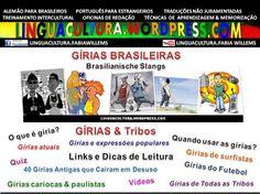 Aprenda Gírias do Brasil & de Portugal com vídeos, quiz, exercícios e imprima uma lista com gírias e complete-a! VISISTE NOSSO BLOG!
