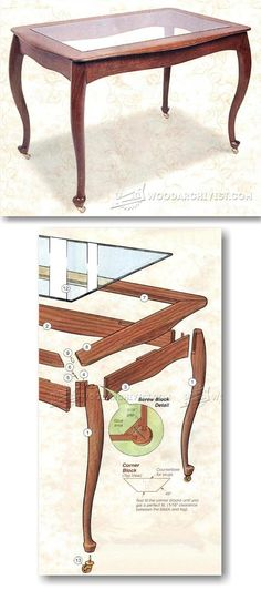 Rolling Tea Table Plans - Furniture Plans and Projects  | WoodArchivist.com