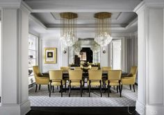 Luxury Dining Room Decor Inspirations – Artistic Interior Design – Most Beautiful Furniture Elegant Dining Room, Luxury Dining Room, Dining Room Design, Dining Area, Classic Dining Room, Dining Rooms, Dining Chairs, Luxury Homes Interior, Room Interior