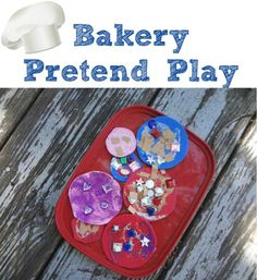 Pretend play bakery and craft idea rolled into one!
