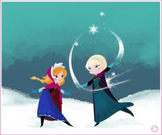 Frozen Playing Together Wallpaper
