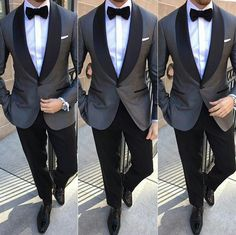 Slate grey tuxedo my style in 2019 wedding suits, tuxedo for men. Groomsmen Suits, Groom Attire, Groomsman Attire, Groom Outfit, Mens Fashion Suits, Mens Suits, Mens Tux, Fashion Vest, Dress Wedding