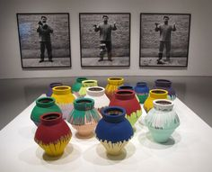 Ai Weiwei Colored Vases