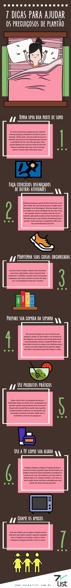 7 dicas para ajudar os preguiçosos de plantão Student Life, Study Tips, Better Life, Self Improvement, Good To Know, Personal Development, Helpful Hints, Life Hacks, Life Tips