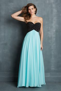Shop 2014 New Style Bicolor Chiffon Prom Dress Empire Waist Princess Sweep Train Online affordable for each occasion. Latest design party dresses and gowns on sale for fashion women and girls.