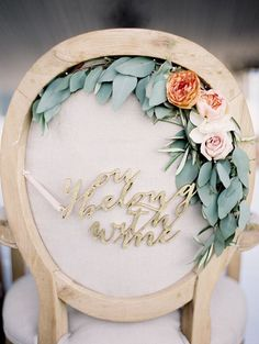 You belong with me wedding reception chair decoration