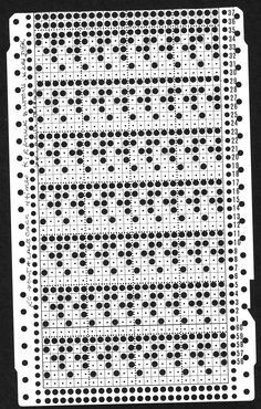 large scale mesh card: combines tuck and lace, both carriages select needles, Brother KM Knitting Machine Patterns, Knitting Charts, Knitting Stitches, Knitting Designs, Hand Knitting, Origami Patterns, Card Patterns, Filet Crochet, Knit Crochet