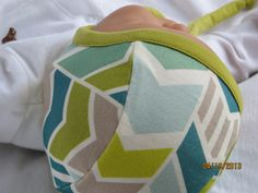Certified 100 Organic Baby Hat in SIZE SMALL Chevron by LilNells, $19.00