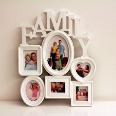 Photo Frame Picture Holder Heart Frame White Family Home Wall Hanging Home Decor #Unbranded #Modern