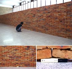A Single Book Disrupts the Foundation of a Brick Wall by Jorge Méndez Blake
