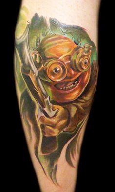 Tattoo Artist - Bartosz Panas - Cartoon tattoo