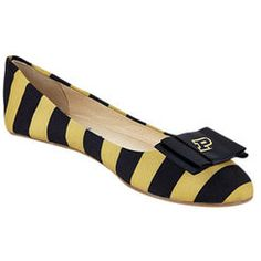 Purdue Boilermakers LillyBee U Womens Removable Bow Flats