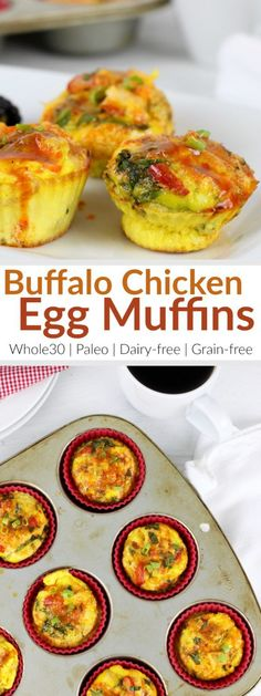 Buffalo Chicken Egg Muffins | The flavor you crave - now for breakfast! Banish boring breakfasts with these protein and veggie-packed egg muffins. They're perfect for mornings on-the-go when you make them ahead of time. | Whole30 | Paleo | Dairy-free | therealfoodrds.com