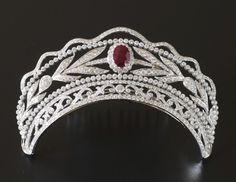 Diamond and ruby tiara [Sadie's first tiara]