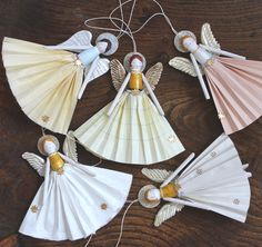 Christmas Decoration Wooden Peg Angel with by PegsPrintHouse