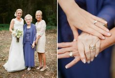 Wedding photo idea: 3 generations of brides and their wedding bands :)