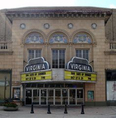 Photo of the old marquee at Virginia Theatre, Champaign, IL