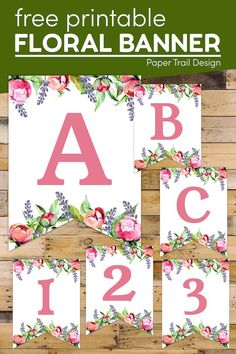 Print these floral alphabet letters for the perfect birthday banner free printable or a wedding banner or Mother's Day banner. #papertraildesign #floralbanner #bannerletters #freebanner Free Printable Alphabet Letters, Alphabet Worksheets, Printable Banner, Party Printables, Free Printables, Mother's Day Banner, Banner Letters, Party Themes, Party Ideas