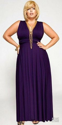 Plus Size Maxi Dresses 2014. This color and feel of the fabric is diva worthy!