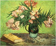 Still Life: Vase with Oleanders and Books - Vincent van Gogh - Arles: August, 1888