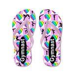 Gymnast Girl Flip Flops http://www.cafepress.com/flipflopfrenzy/12577094 #WomensGymnastics #Gymnast #Gymnastflipflops #personalizedgymnast #Gymnastgift #Ilovegymnastics