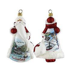 Glitterazzi International Swiss Santa Ornament