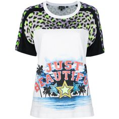 JUST CAVALLI 'Tropical' T-shirt ($320) ❤ liked on Polyvore