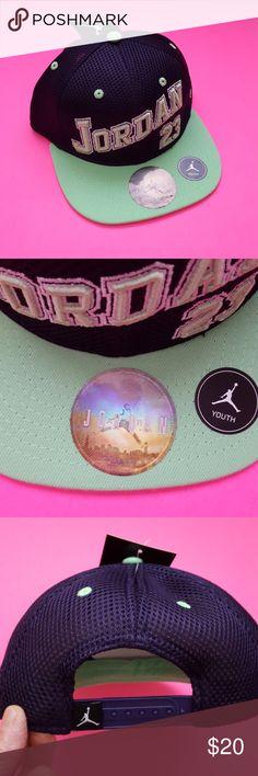 NWT Jordan Young Athletes Snapback Brand new. color: ink/powder green Jordan Accessories Hats