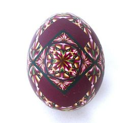 Polymer clay rose egg | Flickr - Photo Sharing!