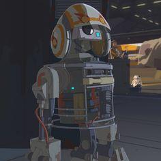 aka Bucket astromech droid of Jarek Yeager Droides Star Wars, Star Wars Canon, Star Wars Droids, Star Wars Characters, Fictional Characters, Arte Robot, Pokemon, Princess Leia, Animation Series