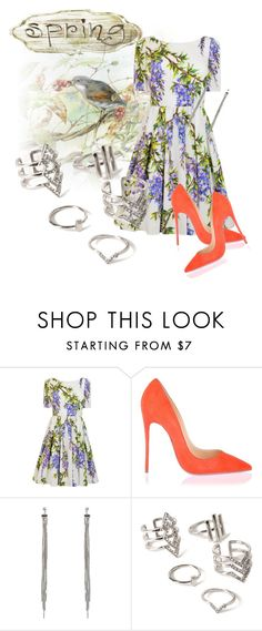 """""""8"""" by color-dli on Polyvore featuring мода, Dolce&Gabbana, Christian Louboutin и Forever 21"""