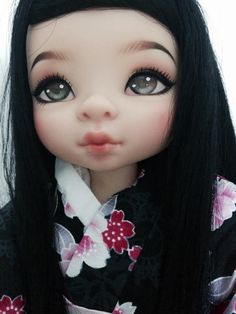 https://flic.kr/p/pn25hZ | Mulan Animator's doll Hime doll Japan | ooak doll by short faceup